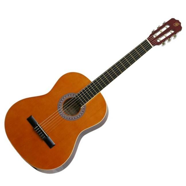 Gomez 001/YW Spaans / klassieke gitaar met nylon snaren in de kleur Natural