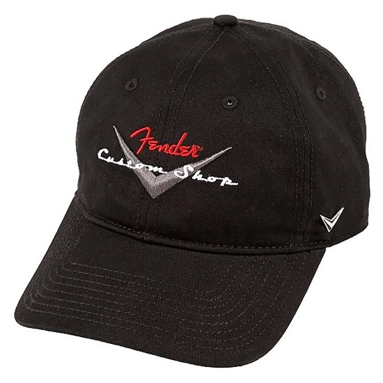 FENDER STRETCH CAP 910-6635-306 - PET CUSTOM SHOP LOGO BLACK ONE SIZE