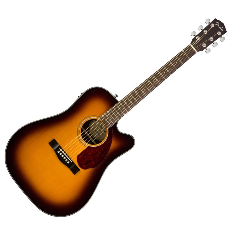 FENDER CD-140SCE SUNBURST WC MET KOFFER - GITAAR WESTERN SOLID TOP + EQ CA