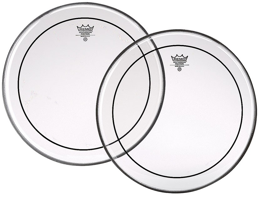 """REMO PS-0312-00 - DRUMVEL 12"""" CLEAR PINSTRIPE"""
