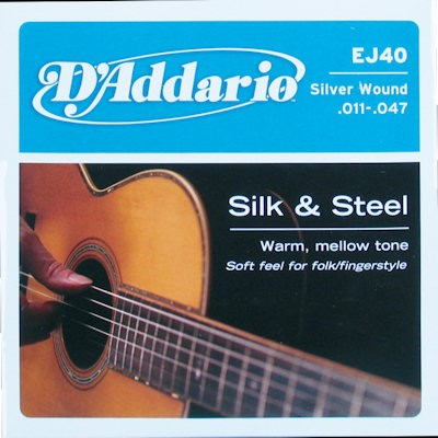 D'ADDARIO EJ40 ACOUSTIC - SNAREN SILK & STEEL 011-047
