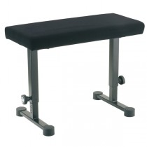 Konig & Meyer 14086-000-55 in hoogte verstelbare robuuste piano / keyboard bank met een stoffen zitting.