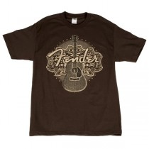 FENDER TEE 910-1365-306 - T-SHIRT ACOUSTIC BROWN S