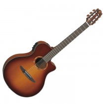 YAMAHA NTX700C BS BROWN SUNBURST SOLID CEDAR TOP - GITAAR KLASSIEK SMALLE HALS + EQ