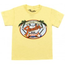 FENDER TEE 910-5002-306 - T-SHIRT WORLD FAMOUS YELLOW 2 JAAR