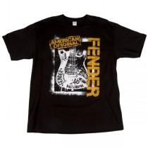FENDER TEE 910-1363-306 - T-SHIRT SPRAYPAINT BLACK S