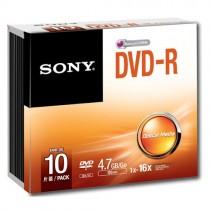 SONY 10DMR47SS 10-PACK - DVD-R 4.7GB 120MIN SLIMCASE