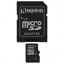 KINGSTON SDC4/32GB CLASS 4 - MICRO SDHC MEMORY 32 GB + ADAPTER