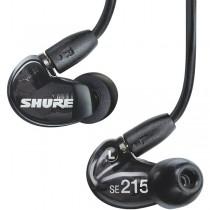 SHURE SE215-K BLACK - HOOFDTELEFOON IN-EAR GESLOTEN