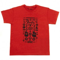 FENDER TEE 910-3079-306 - T-SHIRT FORMULA YOUTH RED 6/7 JAAR