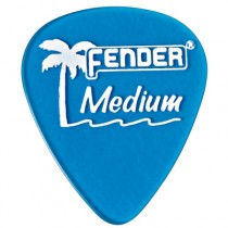 FENDER CALIFORNIA CLEARS PICKS 12-PACK - PLECTRUM MEDIUM LAKE PLACID BLUE