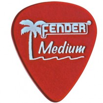 FENDER CALIFORNIA CLEARS PICKS 12-PACK - PLECTRUM MEDIUM CANDY APPLE RED