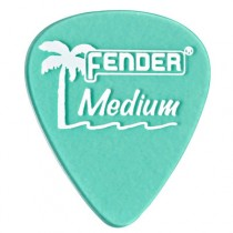 FENDER CALIFORNIA CLEARS PICKS 12-PACK - PLECTRUM MEDIUM SURF GREEN