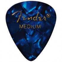 FENDER 351 PREMIUM CELLULOID PICKPACK 12 - PLECTRUM MEDIUM BLUE MOTO