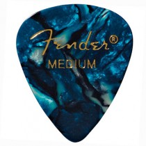 FENDER 351 PREMIUM CELLULOID PICKPACK 12 - PLECTRUM MEDIUM OCEAN TURQUESA