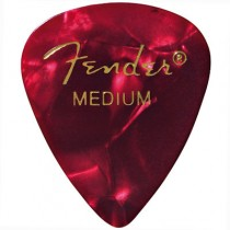 FENDER  351 PREMIUM CELLULOID PICKPACK 12 - PLECTRUM MEDIUM RED MOTO