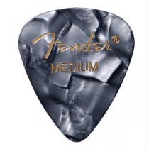 FENDER  351 PREMIUM CELLULOID PICKPACK 12 - PLECTRUM MEDIUM BLACK MOTO