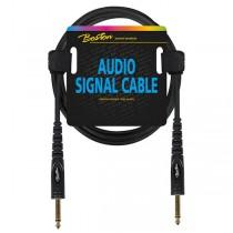Boston AC-211-075 kabel van 0.75 meter lengte met aan beide zijden een jack 6.3 mono plug.