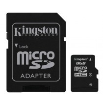 KINGSTON SDC4/8GB CLASS 4 - MICRO SDHC MEMORY 8 GB + ADAPTER