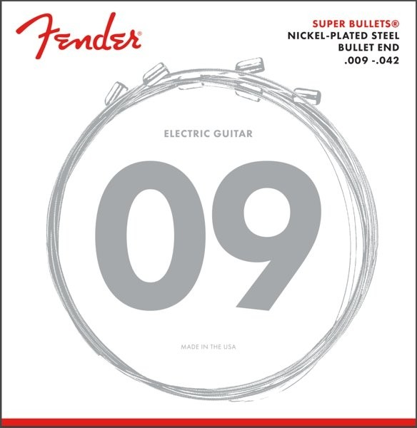FENDER 3250L SUPER BULLETS - SNAREN ELEKTRISCH 009-042 NICKEL