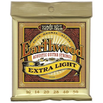 ERNIE BALL 2006 EARTHWOOD EXTRA LIGHT - SNAREN 010-050 80/20 BRONZE