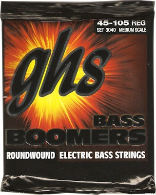 GHS M3040 BOOMERS MEDIUM SCALE - SNAREN BAS 045-105 MEDIUM