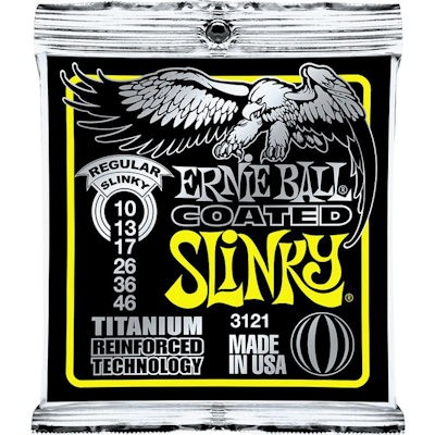 ERNIE BALL 3121 REGULAR COATED SLINKY - SNAREN 010-046 NICKELWOUND REINFORCED