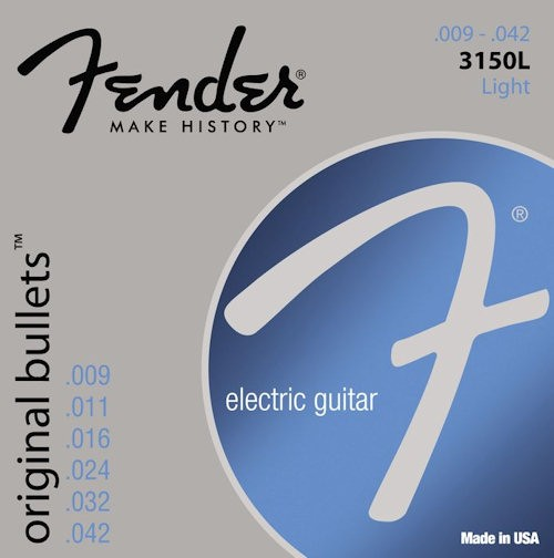 FENDER 3150L ORIGINAL BULLETS - SNAREN ELEKTRISCH 009-042 NICKEL