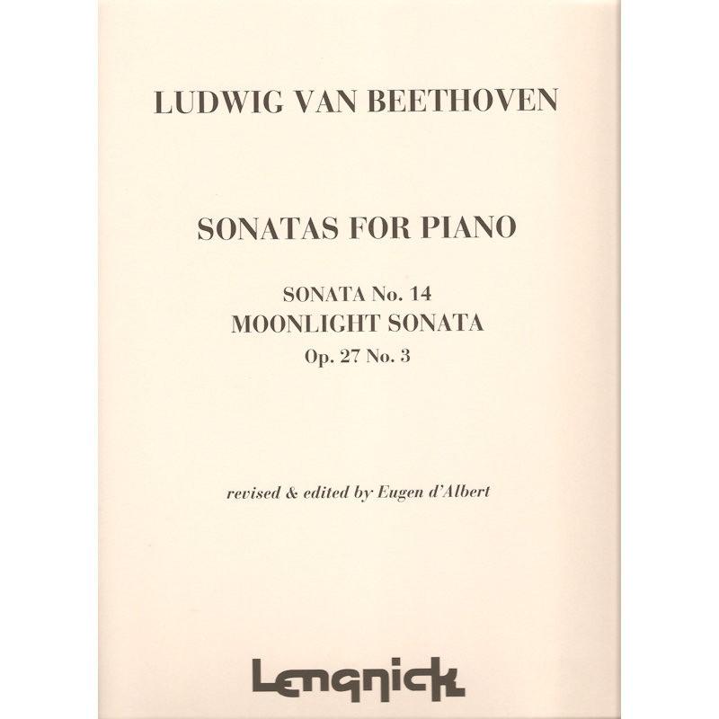BEETHOVEN, LUDWIG VAN - MOONLIGHT SONATA -PIANO- - bladmuziek