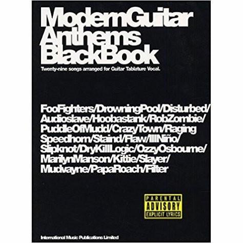 BLADMUZIEK - MODERN GUITAR ANTHEMS BLACK BOOK