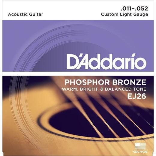 D'ADDARIO EJ26 - SNAREN 011-052 PHOSPHOR BRONZE
