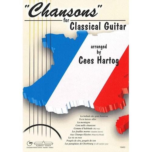 HARTOG, CEES - CHANSONS FOR CLASSICAL GUITAR - bladmuziek