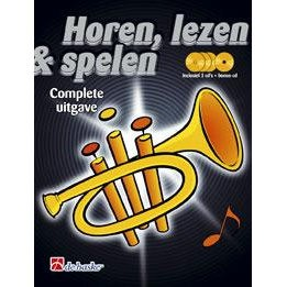 HOREN, LEZEN & SPELEN - TROMPET METHODE COMPLEET + 4 CD'S