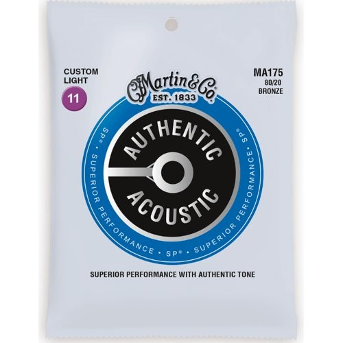 MARTIN MA175 AUTHENTIC ACOUSTIC SP - SNAREN 011-052 BRONZE WOUND 80/20