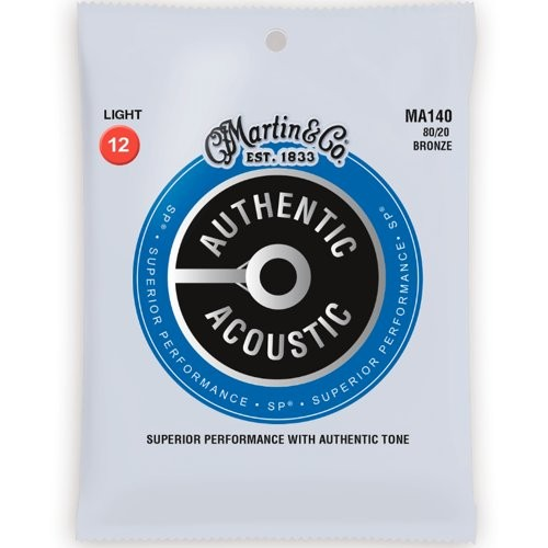 MARTIN MA140 AUTHENTIC ACOUSTIC SP - SNAREN 012-054 BRONZE WOUND 80/20