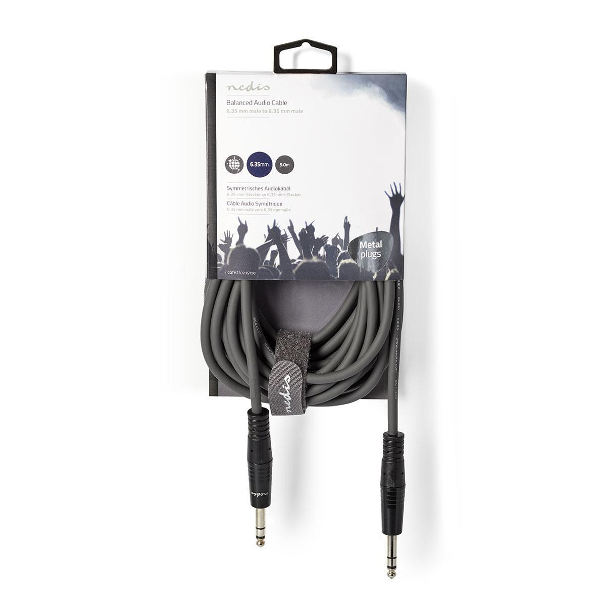 NEDIS COTH23020GY50 - KABEL JACK 6.3 STEREO 5.0 METER