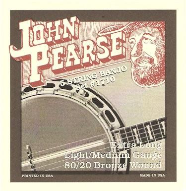 JOHN PEARSE 1700LM LIGHT/MEDIUM 80/20 BRONZE WOUND - SNAREN BANJO 010-020W LOOP END