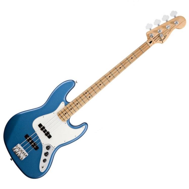 FENDER JAZZ BASS STANDARD 014-6202-502 - BASGITAAR MN LAKE PLACID BLUE