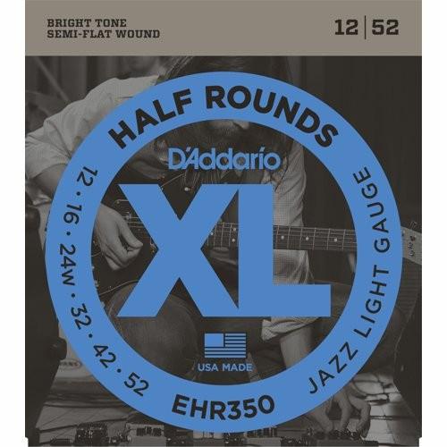 D'ADDARIO EHR350 HALF ROUNDS - SNAREN 012-052 SEMI-FLAT WOUND
