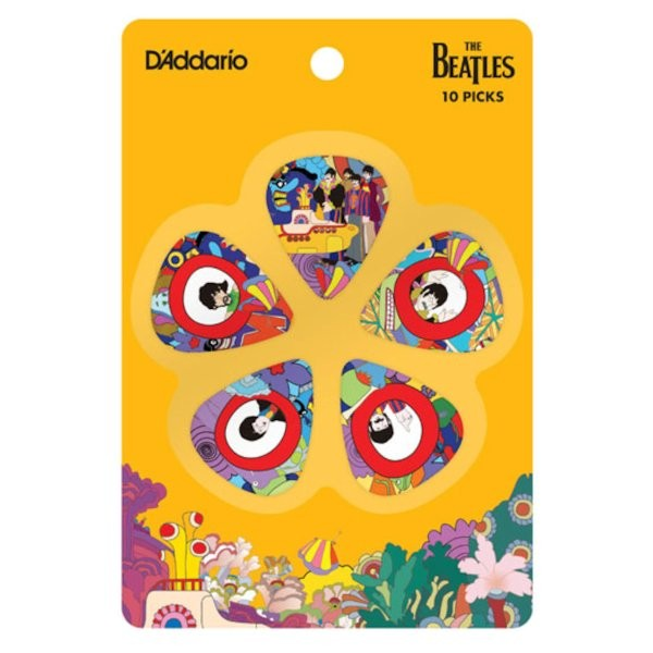 PLANET WAVES 50TH ANNIVERSARY PICK SET HEAVY 10-PACK - PLECTRUM BEATLES YELLOW SUBMARINE