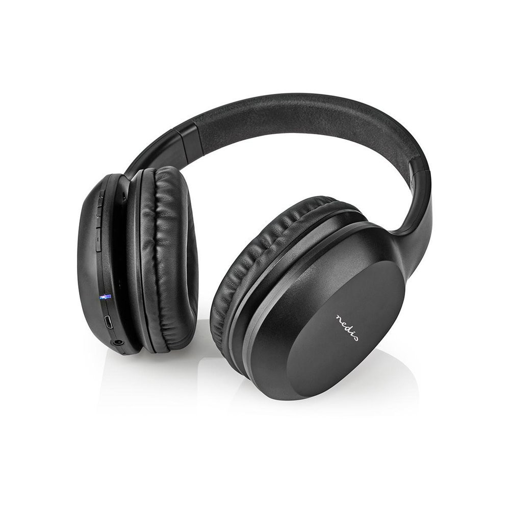 NEDIS HPBT1200BK - HOOFDTELEFOON DRAADLOOS BLUETOOTH OVER-EAR ZWART