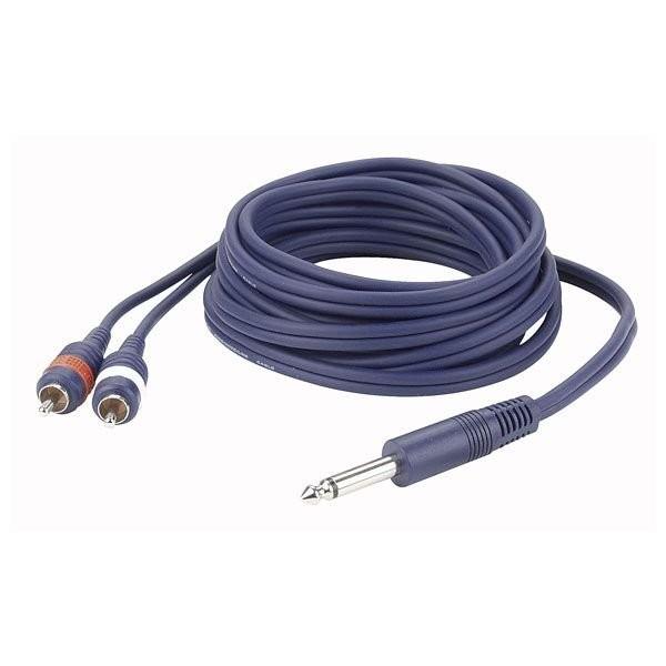 DAP FL33150 - KABEL JACK 6.3 MON - 2X RCA 1.5 MTR