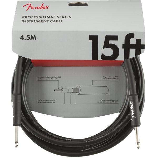 FENDER PROFESSIONAL SERIES 0990820021 - KABEL JACK 6.3 4.5 METER ZWART