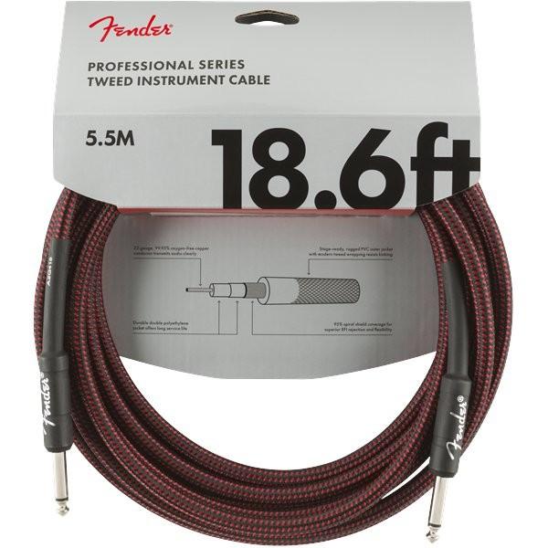 FENDER PROFESSIONAL SERIES 0990820067 - KABEL JACK 6.3 5.5 METER RED TWEED