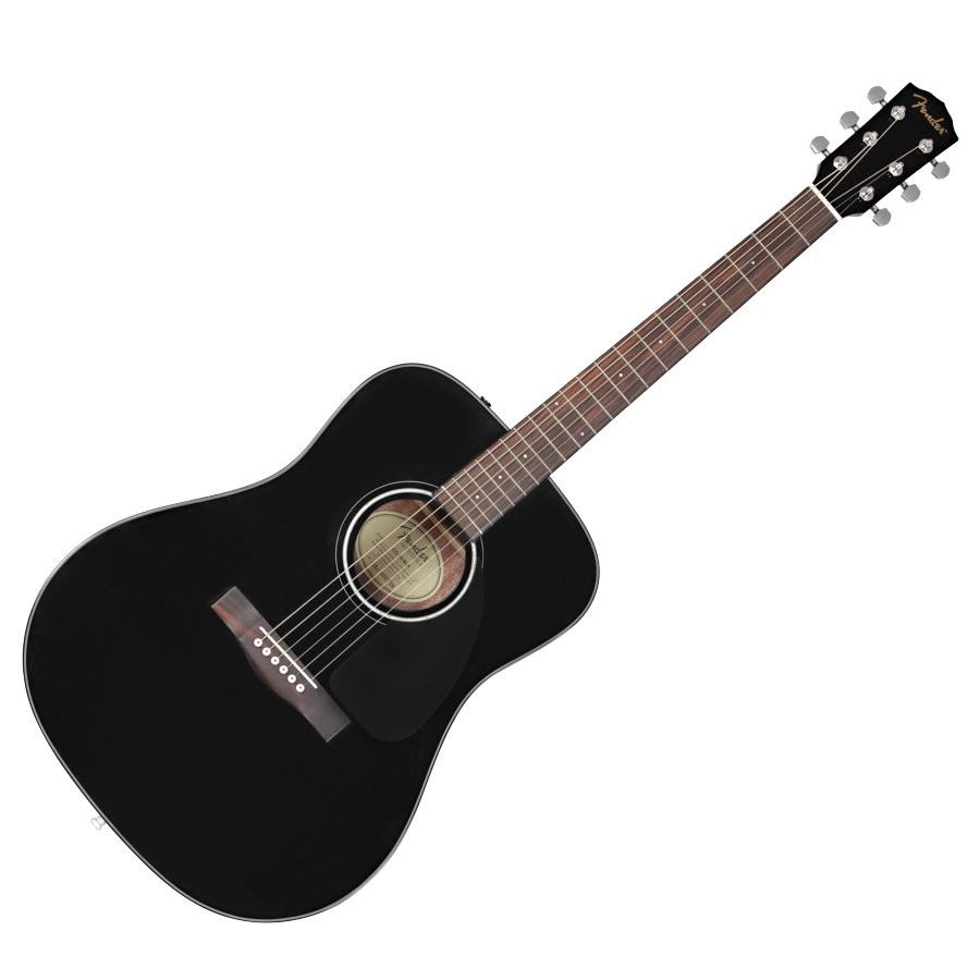FENDER CD-60 V3 BLK WN - GITAAR WESTERN DREADNOUGHT ZWART