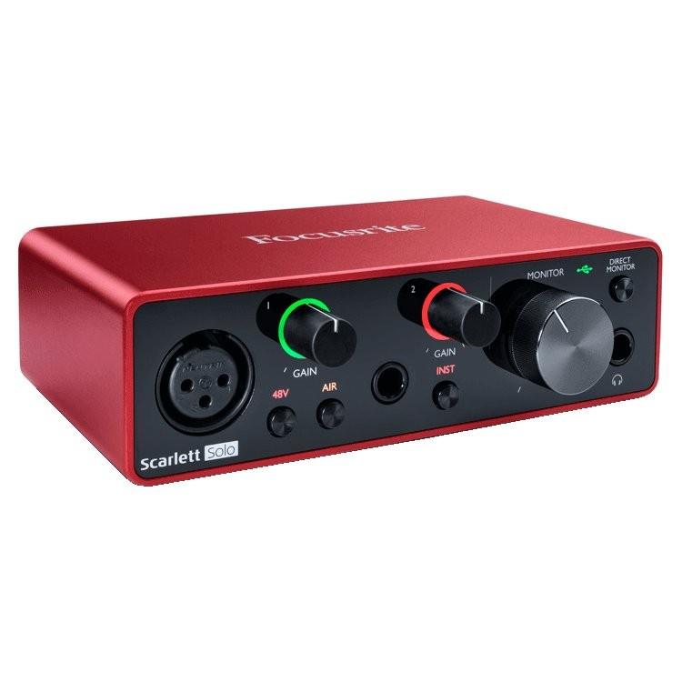 FOCUSRITE SCARLETT SOLO 3RD GEN - AUDIO INTERFACE USB 2 IN / 2 OUT