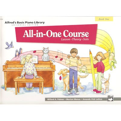 ALFRED'S BASIC PIANO LIBRARY - ALL IN ONE COURSE 1