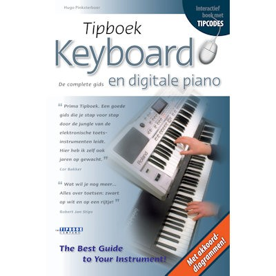 PINKSTERBOER, HUGO - TIPBOEK KEYBOARD EN DIGITALE PIANO