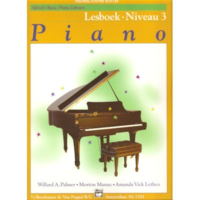 ALFRED'S BASIC PIANO LIBRARY - LESBOEK 3 NL