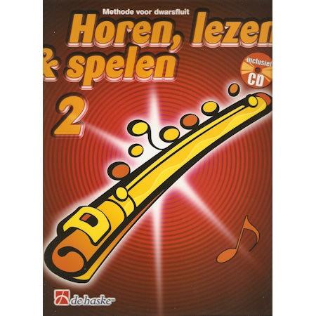 HOREN, LEZEN & SPELEN - DWARSFLUIT METHODE DEEL 2 + CD